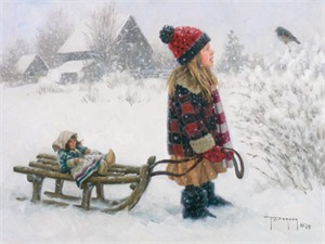 """Robert Duncan Hand Signed and Numbered Limited Edition Canvas Giclee:""""The Friendly One"""""""