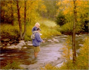 """Robert Duncan Handsigned and Numbered Limited Edition Giclee on Canvas:""""Fisherman"""""""