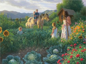 """Robert Duncan Handsigned and Numbered Limited Edition Giclee on Canvas:""""The Summer Foal"""""""