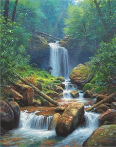 "Mark Keathley Hand Signed and Numbered Limited Edition Embellished Canvas Giclee:""Luna de Amor"""
