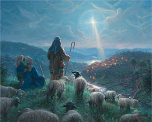 """Mark Keathley Hand Signed and Numbered Limited Edition Embellished Canvas Giclee:""""Peace on Earth"""""""