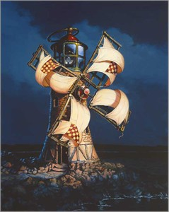 """Dean Morrissey Artist Hand Signed Open Edition Canvas Giclee:""""Giant's Lantern, The"""""""