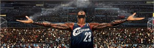 "Frank Morrison OverSize 18x60 Limited Edition Canvas Giclee:""The Return of The King Lebron James"""