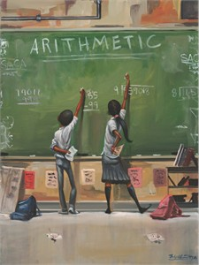 "Frank Morrison Hand Signed and Numbered Limited Edition Canvas Giclee:""Arithmetic"""
