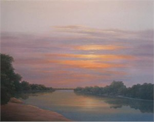 "Jeff Nichols Hand Signed and Numbered Limited Edition Giclee ""Z Mini Canvas - Sunset"""