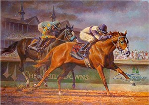"""Fred Stone Hand Signed and Numbered Limited Edition Giclee on Canvas:""""I'll Have Another"""""""