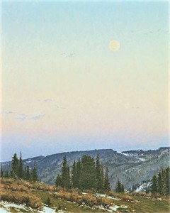 """Carol Cooke Hand Signed and Numbered Limited Edition Canvas Giclee:""""Twilight  Moon"""""""