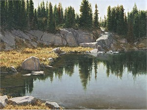 "Carol Cooke  Hand Signed and Numbered Limited Edition Canvas Giclee:""Still Waters"""