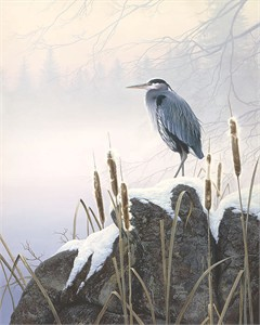 "Stephen Lyman Limited Edition Hand Numbered Anniversary Canvas Giclee:""Morning Solitude"""