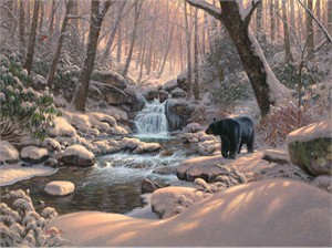 "Mark Keathley Hand Signed and Numbered Limited Edition Embellished Canvas Giclee:""A Time to Rest  -Seasons of Life IV"""