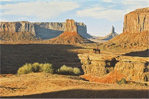 """Denis Milhomme Hand Signed and Numbered Limited Edition Canvas Giclee:""""Shadows of the West"""""""