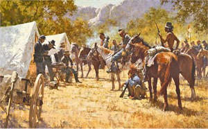"""Howard Terpning Hand Signed and Numbered Limited Edition Masterwork™ Giclée Canvas:""""Major North and the Pawnee Battalion"""""""