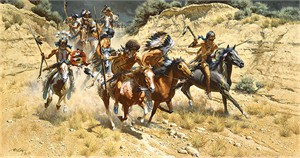 """Frank McCarthy Hand Numbered Anniversary Edition Canvas  Giclee """"The Decoys"""""""