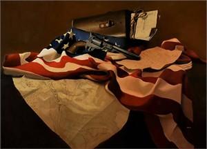"Ron Lesser Open Edition Fine Art Gallery Wrap Giclée Canvas:""Dispatch - Here Lies Custer"""