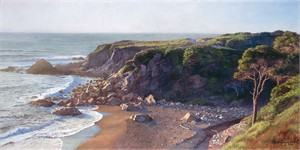 "June Carey Hand Signed & Numbered Limited Edition Giclee on Canvas:""Hidden Cove """