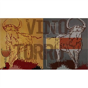 "MJ Lew Signed and Numbered Limited Edition Custom Sized Gicl�e on Paper or Canvas: ""Vino Torro II"""