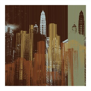 "MJ Lew Signed and Numbered Limited Edition Custom Sized Gicl�e on Paper or Canvas: ""Urban Colors IV"""
