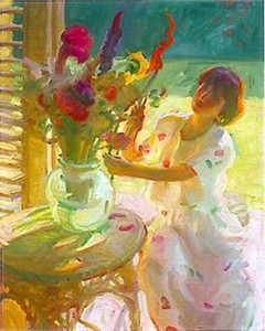 "John Asaro Limited Edition Iris Graphic: "" Arranging Flowers """
