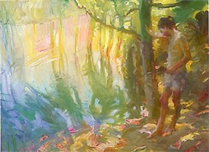 """John Asaro Limited Edition Iris Graphic: """" Reflections on a Pond """""""