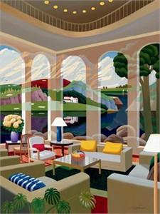 "Datian Limited Edition Iris Graphic on canvas: "" Archipelago """