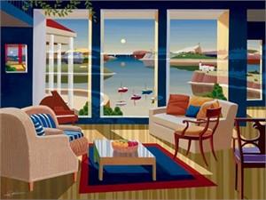 "Datian Limited Edition Iris Graphic: "" Cerulean Sea """