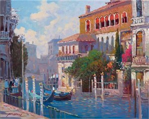 "Ming Feng Limited Edition Iris Graphic on canvas: "" Venezia """