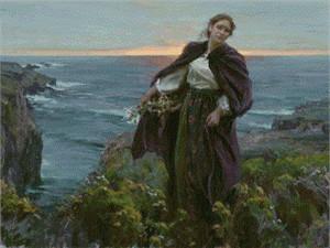"Daniel F. Gerhartz Limited Edition Giclee on Canvas: ""Awaiting His Return"""