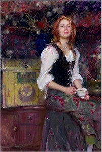 "Daniel F. Gerhartz Limited Edition Iris Graphic: "" Coffee """