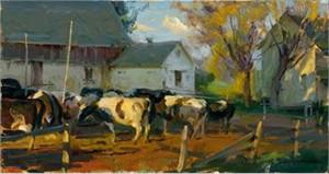 """Daniel F. Gerhartz Limited Edition Iris Graphic: """" Evening Holsteins """""""