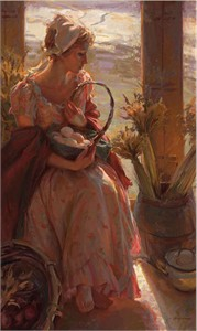 "Daniel F. Gerhartz Limited Edition Giclee on Textured Canvas: ""Early Morning Warmth """