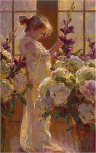 "Daniel F. Gerhartz Limited Edition Iris Graphic: "" Gentle """