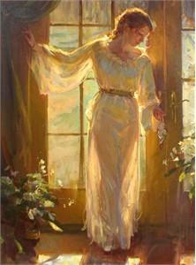 """Daniel F. Gerhartz Limited Edition Giclee on Textured Canvas: """"Winter Garden """""""