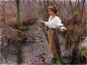 "Daniel F. Gerhartz Limited Edition Iris Graphic on Paper: "" Her Favorite Place """