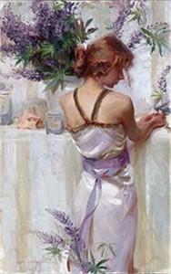 "Daniel F. Gerhartz Limited Edition Iris Graphic: "" Lupine """