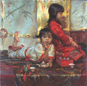 "Daniel F. Gerhartz Limited Edition Print on Paper: "" Jasmine Tea"""