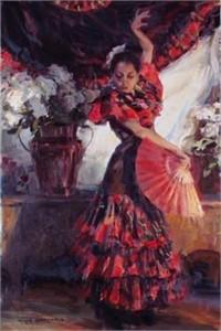 "Daniel F. Gerhartz Limited Edition Iris Graphic : ""Viva Flamenco"""