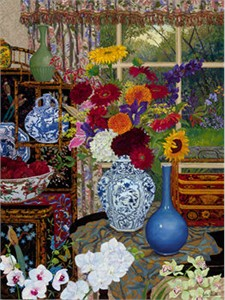"""John Powell Limited Edition Iris Graphic on canvas: """" Antiques """""""