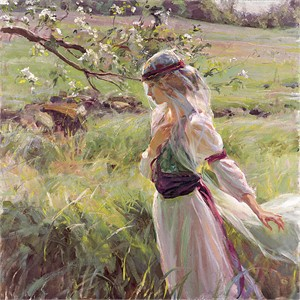 "Daniel F. Gerhartz Handsigned and Numbered Limited Edition Giclee on Textured Canvas: ""Extending Grace"""