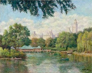 """Christian Title Limited Edition Iris Graphic: """" Lake in Central Park """""""