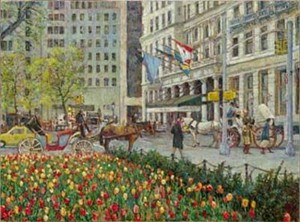 "Christian Title Limited Edition Iris Graphic: "" New York Street """