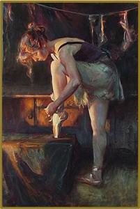 """Daniel F. Gerhartz Handsigned and Numbered Limited Edition Enhanced Canvas Giclee with Silkscreen Varnishes : """"The Audition"""""""