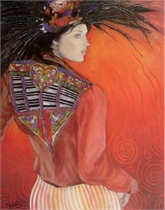 "Jean-Paul Loppo Martinez  Handsigned and Numbered Textured Giclee on Board:""La Veste Brodee """