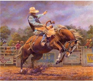 """Fred Stone Artist Hand Signed and Numbered Giclee on Canvas: """"The Bronco"""""""