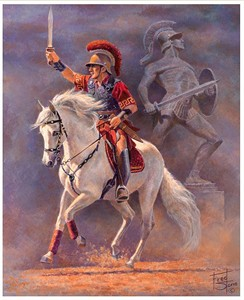 """Fred Stone Handsigned & Numbered Limited Edition Canvas Giclee:""""Conquest (TRAVELER USC Mascot)"""""""