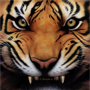 "Gilbert Leal Hand Signed and Numbered Limited Edition Giclee: ""Eyes of the Predator"""