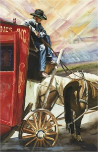 "Teddie Oatey Hand Signed and Numbered Limited Edition Giclee: ""Coca Cola Cowboy"""