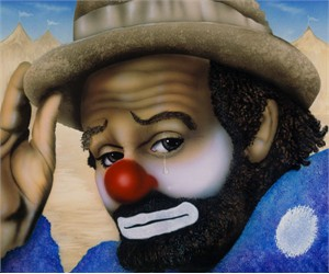 """Terry Wilson Hand Signed and Numbered Limited Edition Giclee: """"Clown"""""""