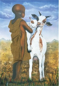"Terry Wilson Hand Signed and Numbered Limited Edition Giclee: ""Goat Herder"""