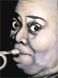 "Terry Wilson Hand Signed and Numbered Limited Edition Giclee: ""Louis Armstrong"""