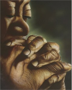 "Terry Wilson Hand Signed and Numbered Limited Edition Giclee: ""Blessed Hands"""